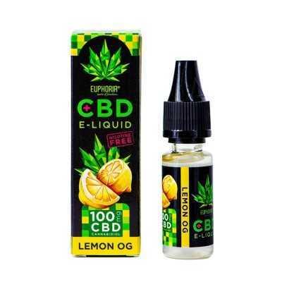 Euphoria CBD-E-Liquid 100mg Lemon OG