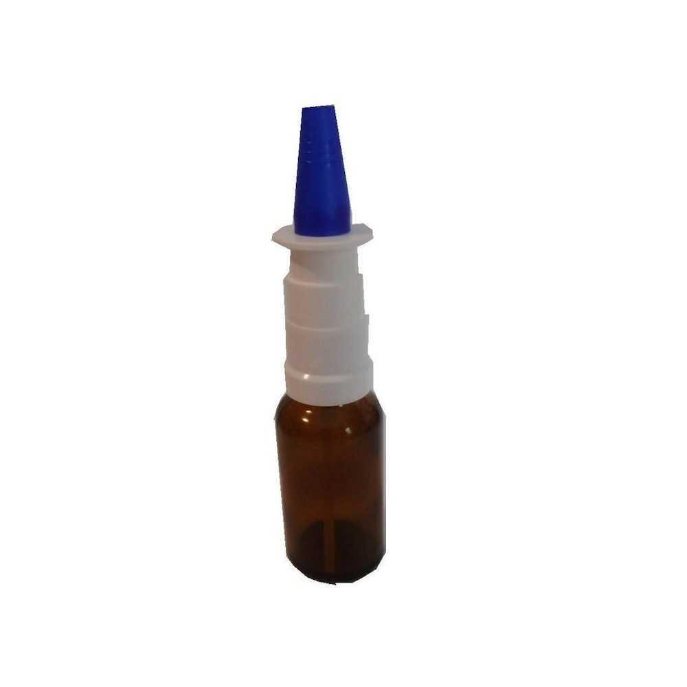 Nasensprayflasche aus Braunglas
