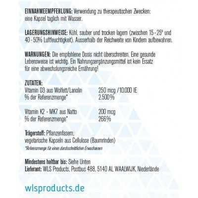 WLS Vitamin D3 + K2 MK7