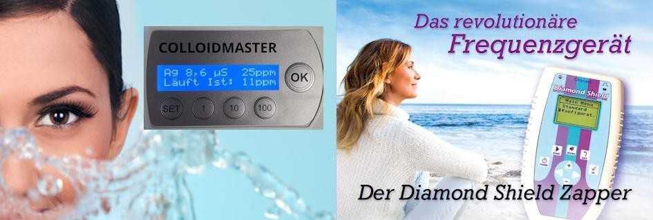 Colloidmaster CM1000 und Diamond Shield Zapper für Ihr Wohlbefinden